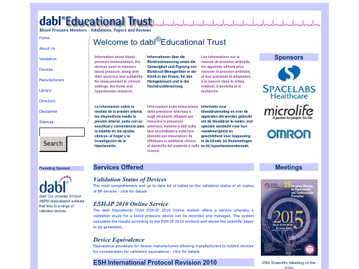 Dabl educational trust and the british hypertension society