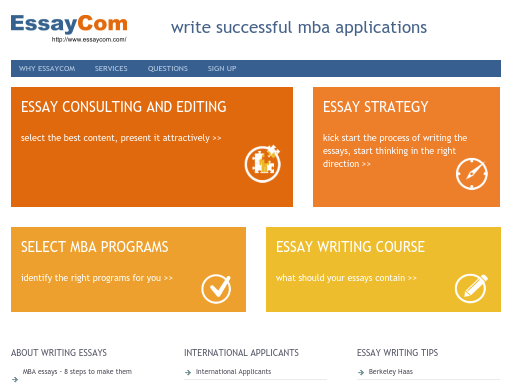 mba essay consultant reviews