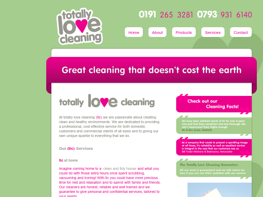 totallylovecleaning.co.uk